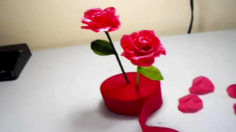 cmo hacer rosas de papel crep - Como Hacer Rosas De Papel