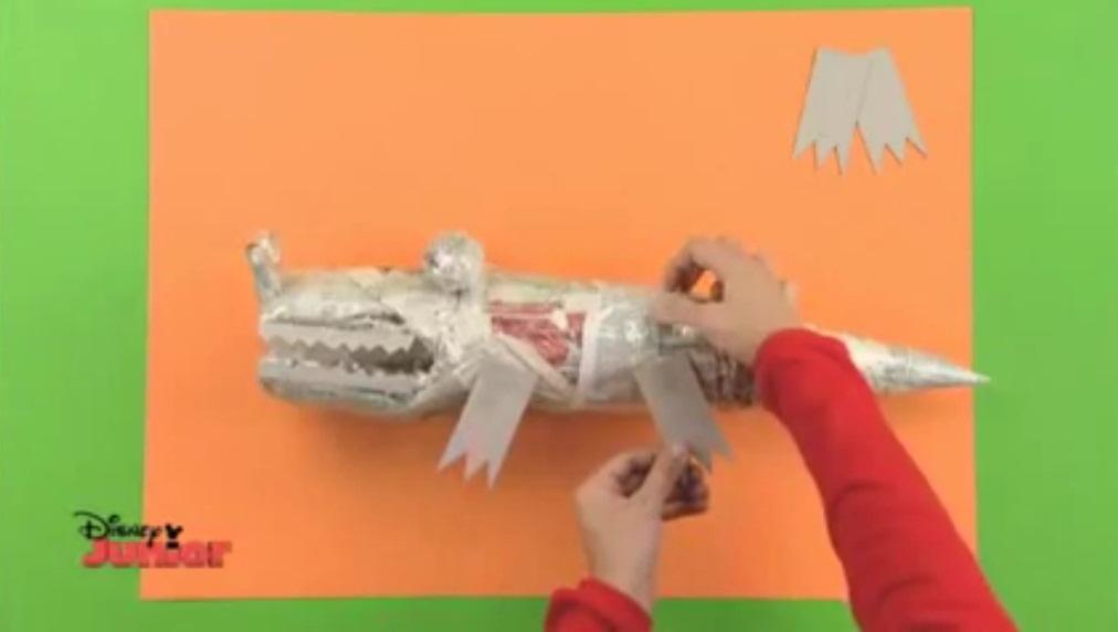 Patas cocodrilo manualidades de papel - Videos de art attack manualidades ...