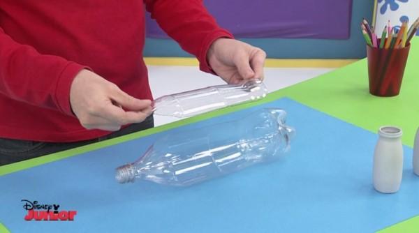 barco plastico botella