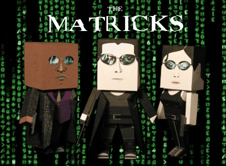 figuras de papel matrix