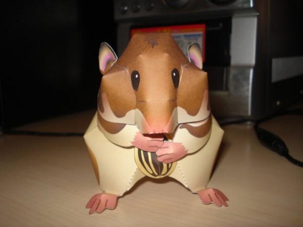 hamster de papel
