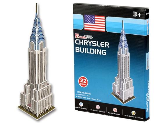 puzzle 3d edificio chrysler