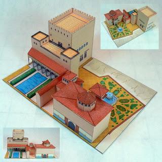papercraft alhambra de granada