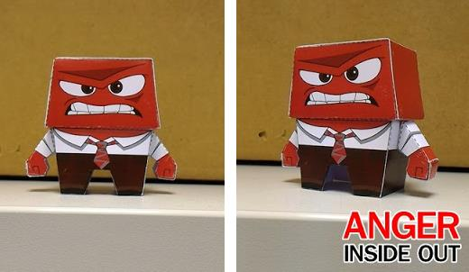 anger papercraft