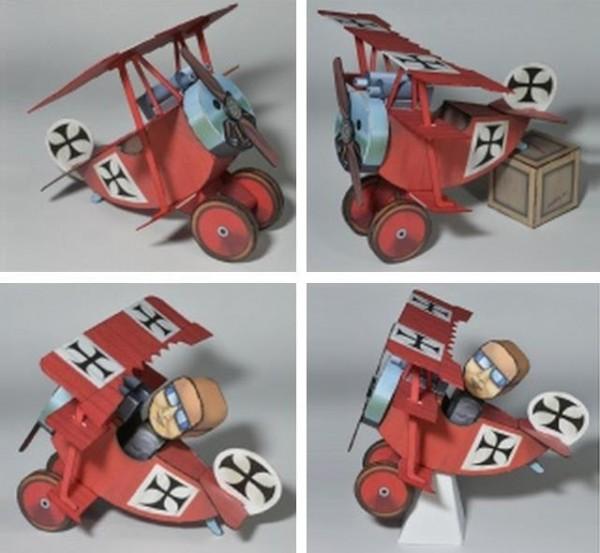 papercraft baron rojo