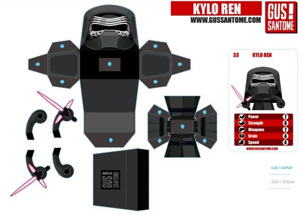 kylo ren papercraft
