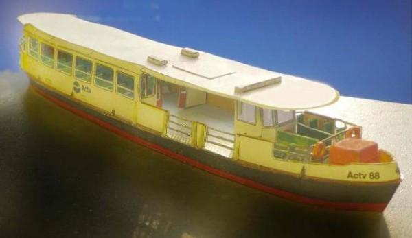 papercraft barco venecia