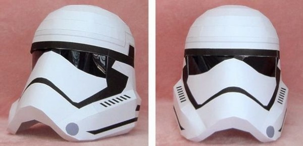 casco papel star wars