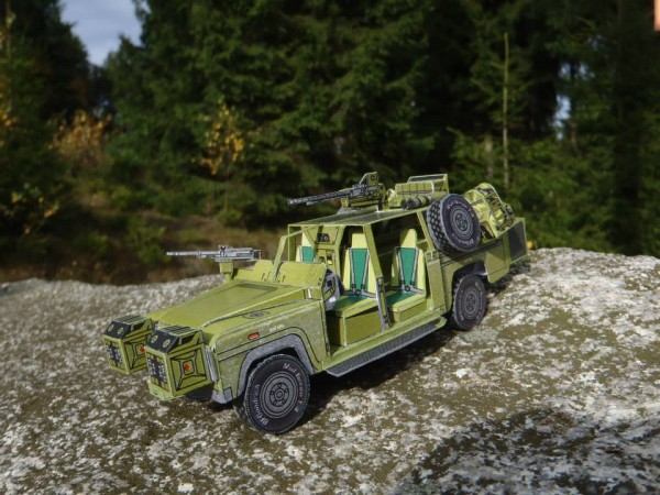 land rover papercraft