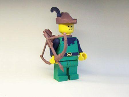 lego robin hood papercraft