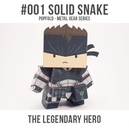 solid snake papercraft