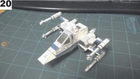 nave x-wing papercraft