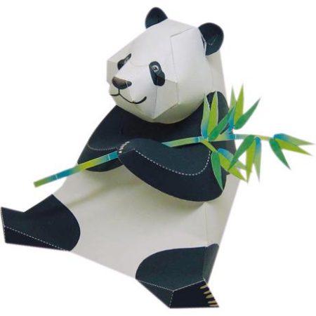 oso panda de papel