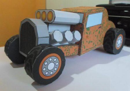 coche de papel